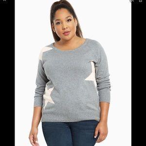 Torrid pink stars scoop neck sweater size 4
